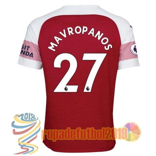 Mejores Tienda Camisetas NO.27 Mavropanos Casa Camiseta Arsenal 2018 2019  Rojo 75c4de02fcc