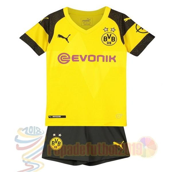 Mejores Tienda Camisetas Casa Conjunto De Niños Borussia Dortmund 2018 2019  Amarillo 41f0ca8720d01