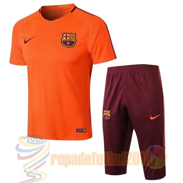 34ca7024ebf9a Mejores Tienda Camisetas Entrenamiento Conjunto Completo Barcelona 2018 2019  Naranja