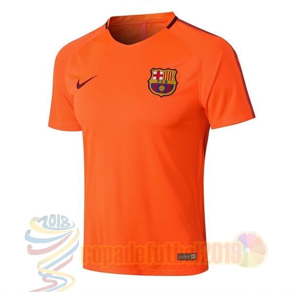 d756075948534 ... Mejores Tienda Camisetas Entrenamiento Conjunto Completo Barcelona 2018  2019 Naranja ...