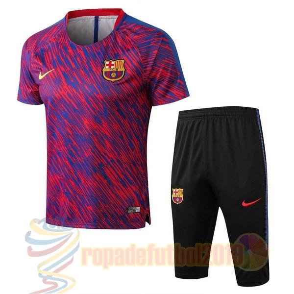 ad3c80c757d42 Mejores Tienda Camisetas Entrenamiento Conjunto Completo Barcelona 2018  2019 Porpora