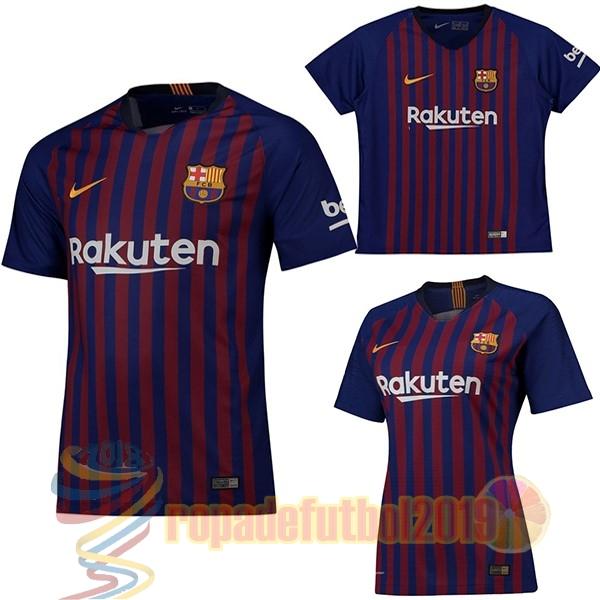 Mejores Tienda Camisetas Casa Camiseta Barcelona 2018 2019 Azul Rojo(Mujer+ Niños) adf631e2258d9