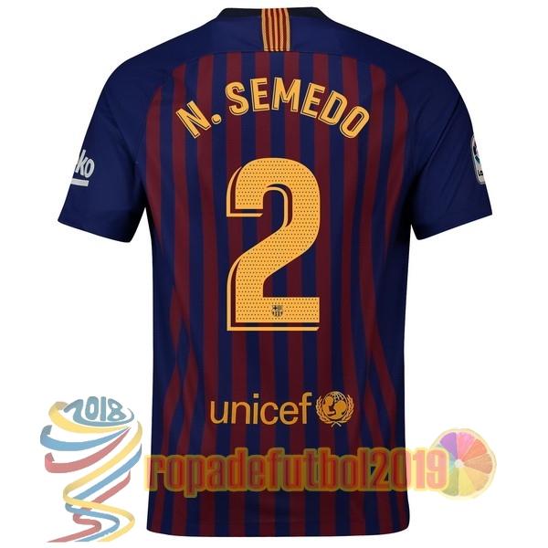 8eb3b61cb3fcd Mejores Tienda Camisetas NO.2 N.Semedo Casa Camiseta Barcelona 2018 2019  Azul Rojo