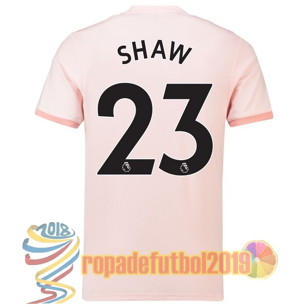 trajes de futbol mejores tienda camisetas no 23 shaw segunda camiseta manchester united 2018 2019 rosa tailandia futbol baratas