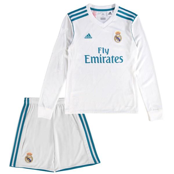 Mejores Tienda Camisetas Casa Camiseta Manga Larga Niños Real Madrid 2017  2018 Blanco deeb14974ceee