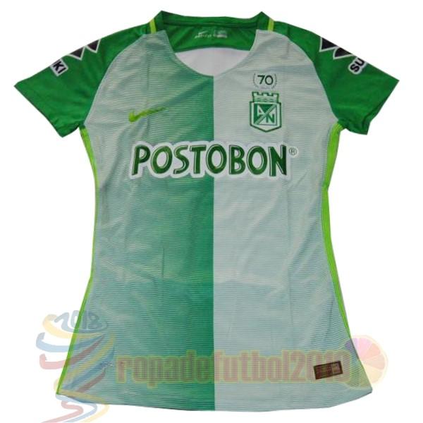 Mejores Tienda Camisetas Casa Camiseta Mujer Atlético Nacional 2017 2018  Verde Blanco 7fb0cb40be696