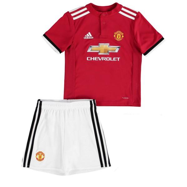 Mejores Tienda Camisetas Casa Conjunto De Niños Manchester United 2017 2018  Blanco Rojo f43997e205818