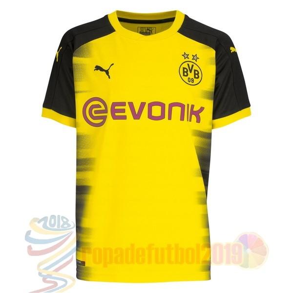 Mejores Tienda Camisetas International Casa Camiseta Borussia Dortmund 2017  2018 Amarillo 36ea95d1389b3