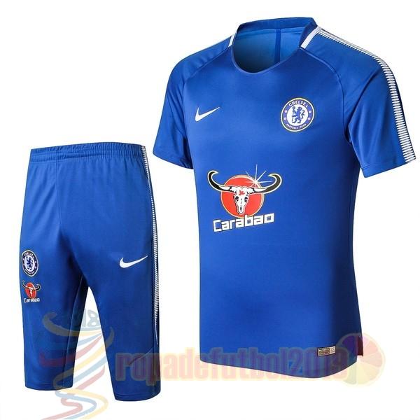 e9d2de38e Mejores Tienda Camisetas Entrenamiento Conjunto Completo Chelsea 2017 2018  Azul